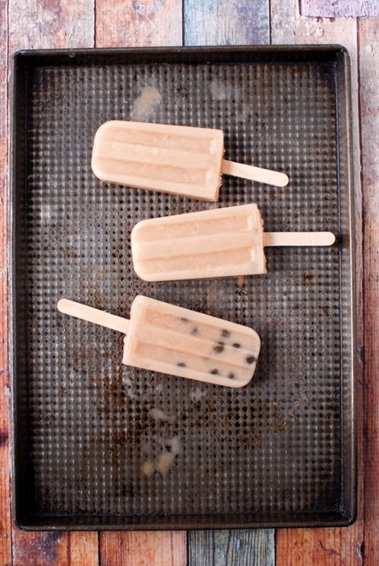 Chai-Coconut Milk Boba {Bubble Tea} Popsicles overhead
