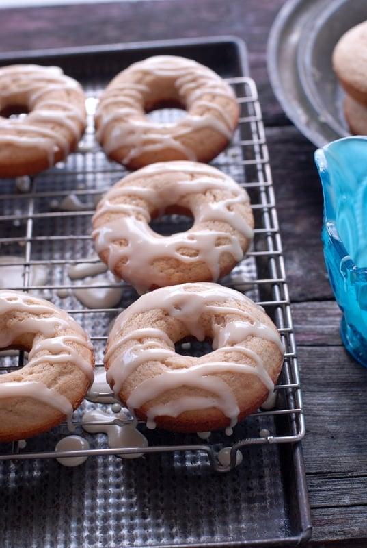 Peach Buttermilk Glazed Donuts #gluten-free | BoulderLocavore.com