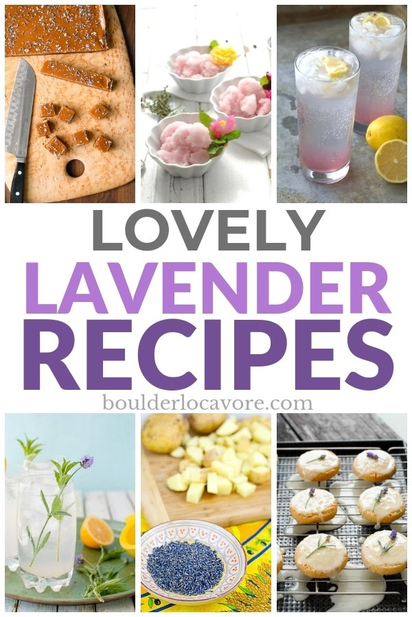 Lavender Recipes collage