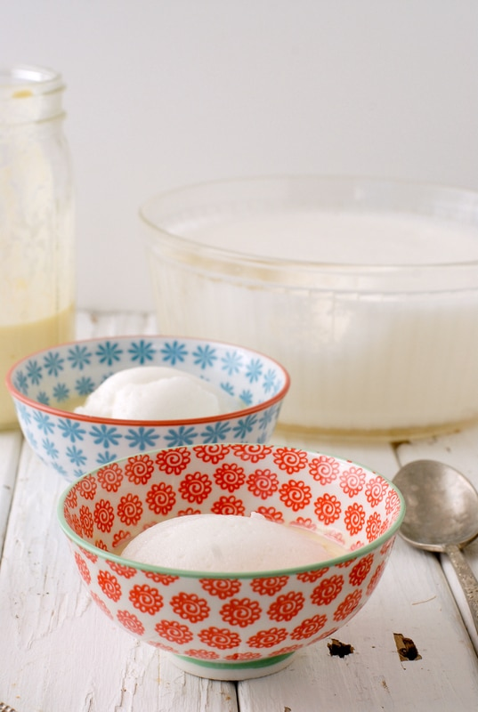 Lemony Snow Pudding with Rose Custard Sauce - BoulderLocavore.com
