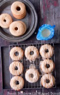 Peach Buttermilk Glazed Donuts {gluten-free}