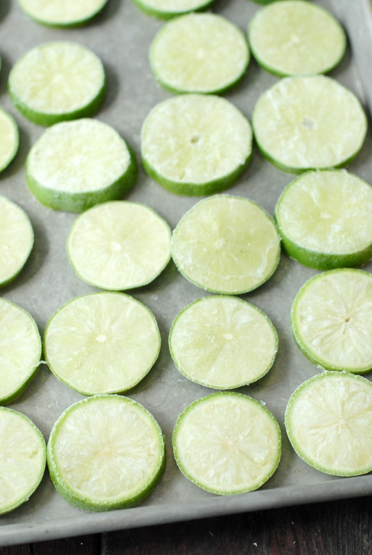 Frozen Lime Slices