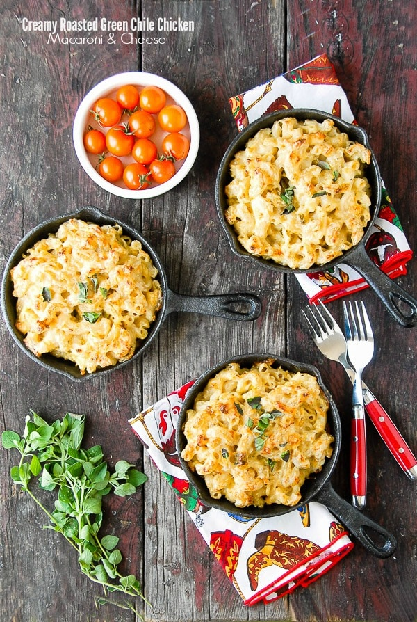 Creamy Roasted Green Chile Chicken Mac and Cheese. An unforgettable version of mac and cheese that's filling and full of flavor. Gluten-free or regular options. - BoulderLocavore.com