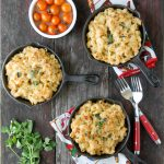 Creamy Roasted Green Chile Chicken Macaroni and Cheese {gluten-free}