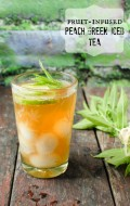 Fruit Infused Peach Green iced Tea - BoulderLocavore.com