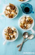 Honey-Mascarpone Ice Cream with Balsamic Ripple, Grilled Figs and Walnuts