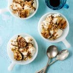 Honey-Mascarpone Ice Cream with Balsamic Ripple, Grilled Figs and Walnuts. A simple, seasonal dessert recipe that will surprise and delight anyone who eats it! BoulderLocavore.com