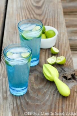 Key Lime Infused Vodka Tonics