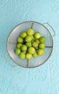 Key Limes in vintage colander - BoulderLocavore.com