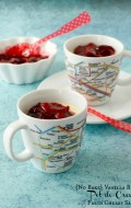 {No Bake} Vanilla Bean Pot de Creme with Fresh Cherry Sauce - BoulderLocavore