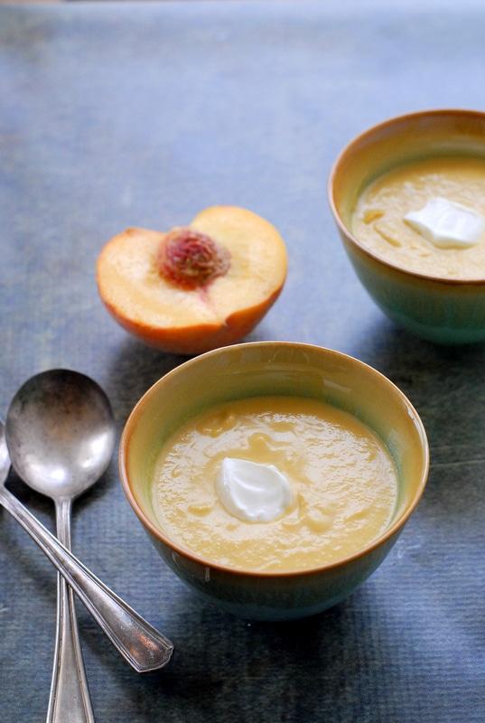 Peach Lemongrass Soup with Creme Fraiche- BoulderLocavore.com