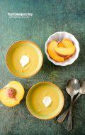 Peach Lemongrass Soup with Creme Fraiche