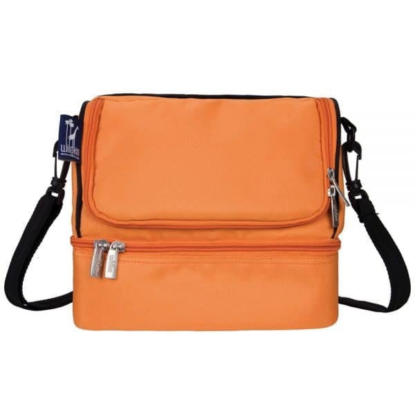 Wildkin Double Decker Lunch Box in Bengal Orange | BoulderLocavore.com