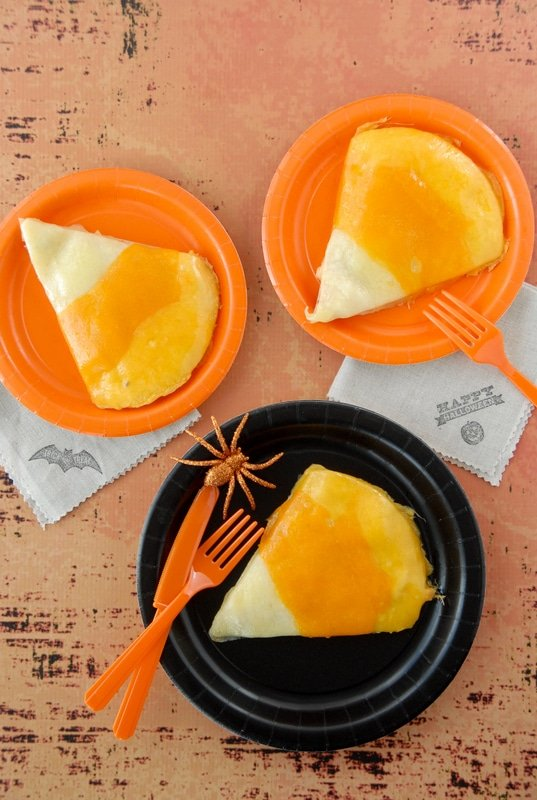 Candy Corn Chicken Quesadillas - BoulderLocavore.com #Mexican