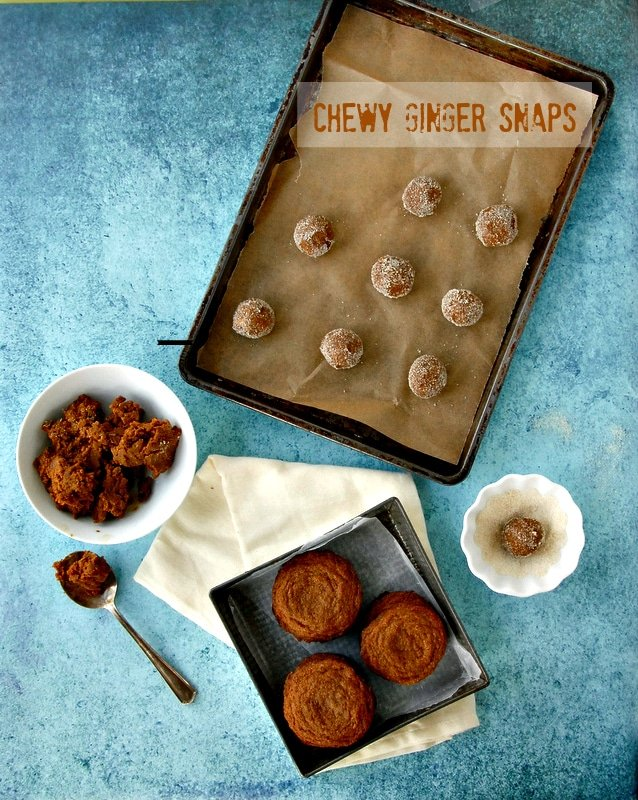 Chewy Ginger Snaps #cookie - BoulderLocavore.com