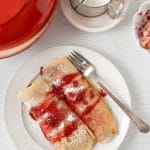 Fall-Spiced Pear and Cherry Crepes & a Le Creuset Giveaway!