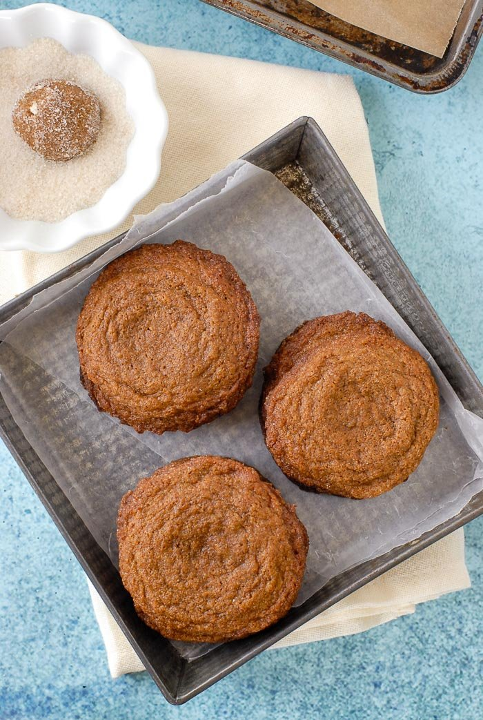 Ginger Snaps in vintage baking dish