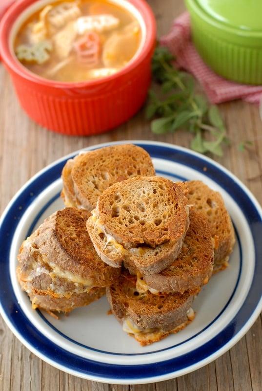 Mini Baguette Grilled Cheese Sandwiches - BoulderLocavore.com