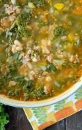Peppery Sausage White Bean Kale Soup #soup #glutenfree - BoulderLocavore.com