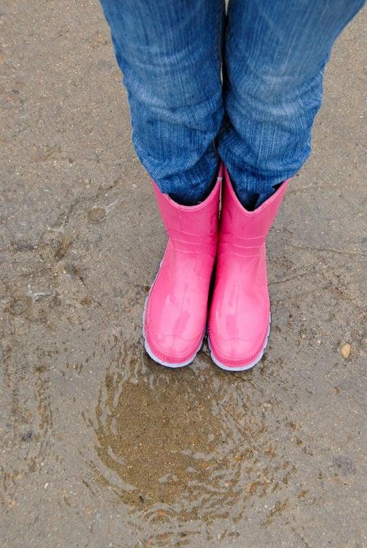 Pink Rain boots - BoulderLocavore.com