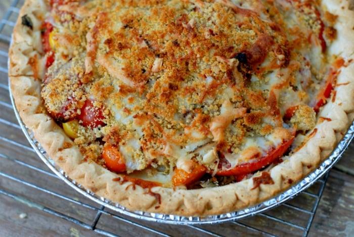 Savory Tomato Pie #glutenfree BoulderLocavore.com