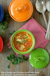 Spicy Farmhouse Chicken and Pasta Soup