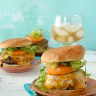 Stuffed Taco Burgers with buns