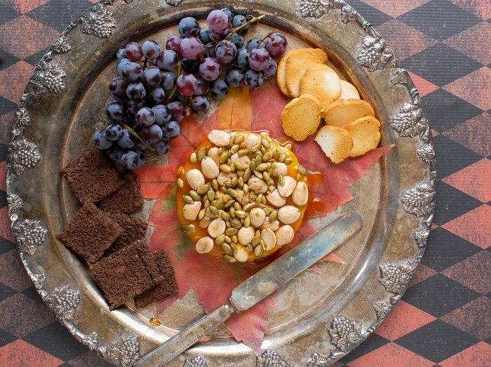 Baked Brie, Maple-Pumpkin Butter, Honey, Marcona Almonds, Pepitas - BoulderLocavore.com
