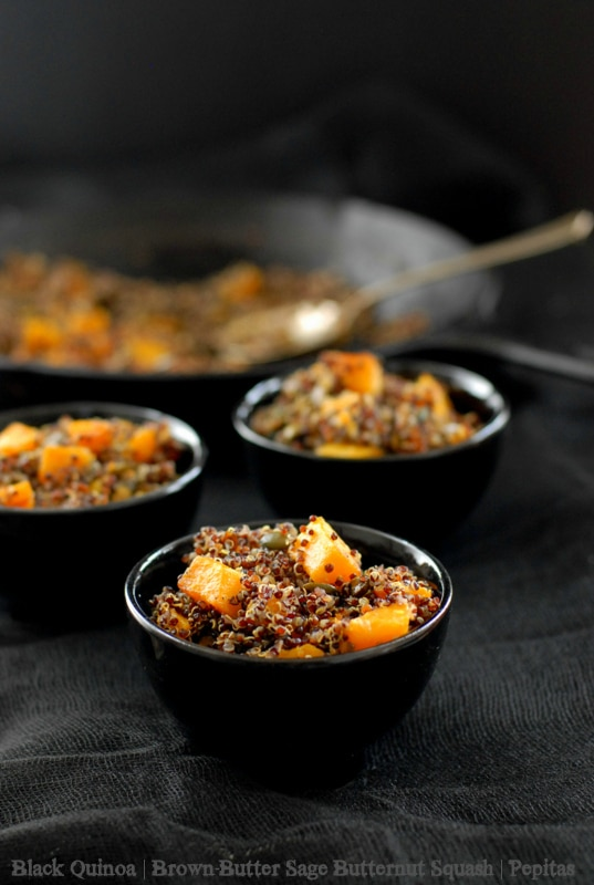 Black Quinoa with Brown-Butter Sage Buttenut Squash and Pepitas