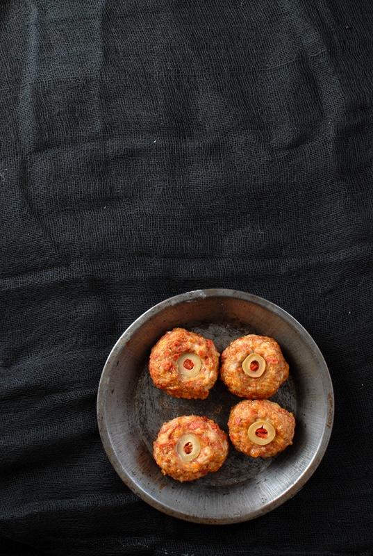 Diablo Eyeballs {Taco Meatballs} - BoulderLocavore.com