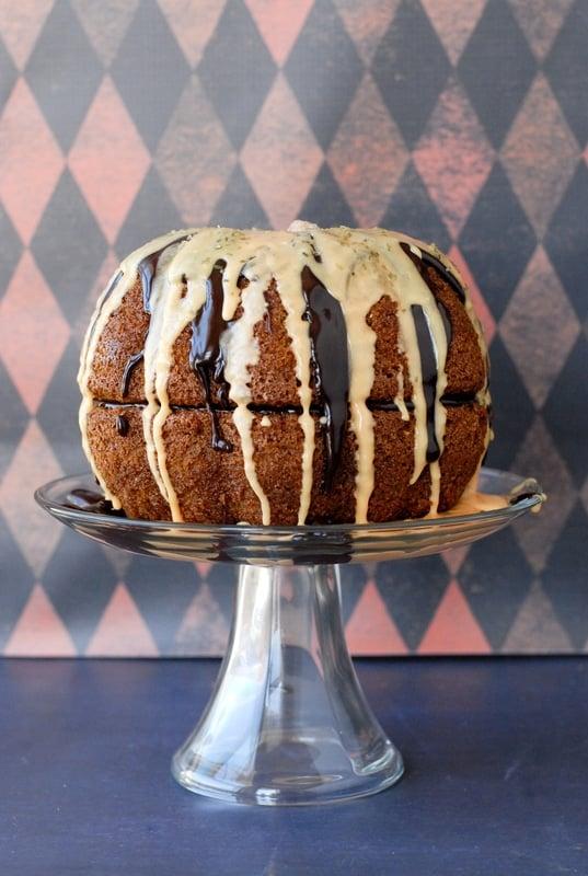 Great Pumpkin Pinata Cake - BoulderLocavore.com #gluten-free