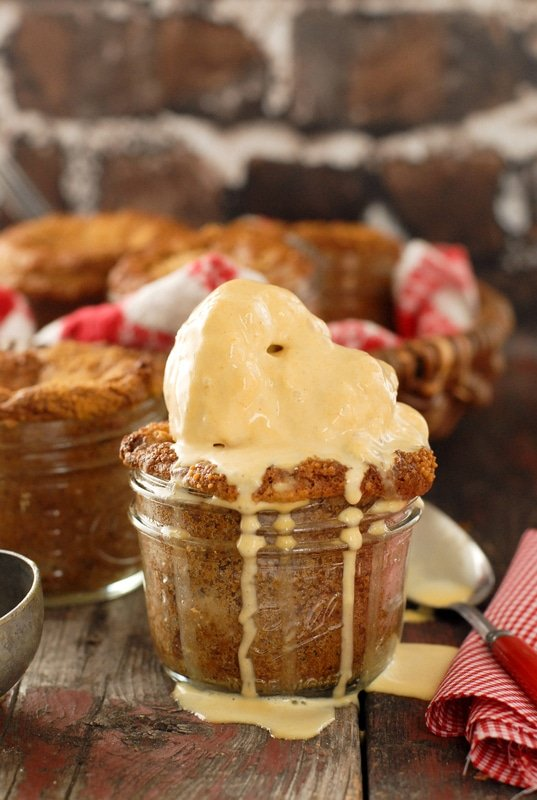 Little Apple Oat Cakes in Jars with ice cream - BoulderLocavore.com