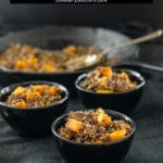 black quinoa with sage brown butter sauce and butternut squash title image