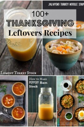 100 Thanksgiving Leftover Recipes title collage