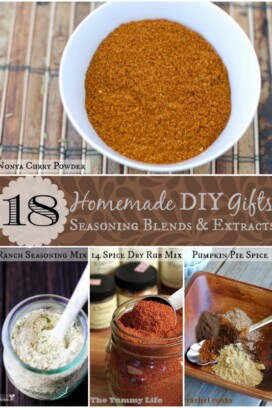 18 Homemade DIY Gifts Seasoning Blends and Extracts title collage