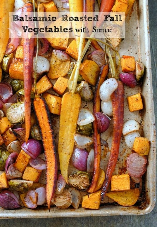 Balsamic Roasted Fall Vegetables with Sumac - BoulderLocavore.com