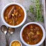Caldillo {Mexican Steak Soup} - BoulderLocavore #glutenfree