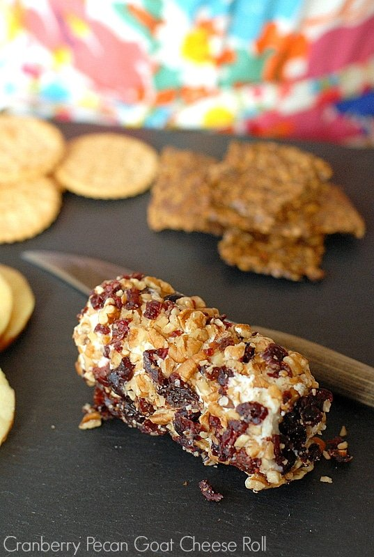 Cranberry Pecan Goat Cheese Roll
