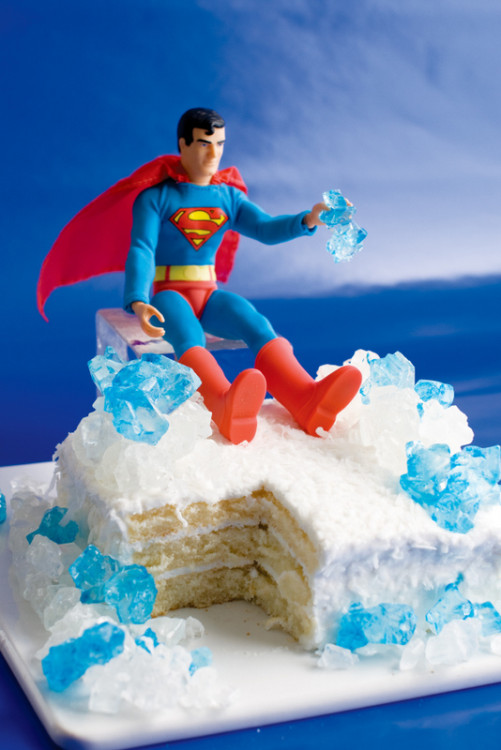 Fortress of Solitude Crystal Cake. Photo credits: The Official DC Super Hero Cookbook {Downtown Bookworks, Inc.}