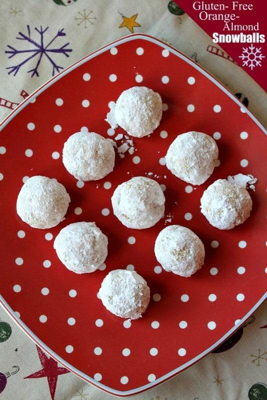 Gluten-Free Orange Almond Snowballs