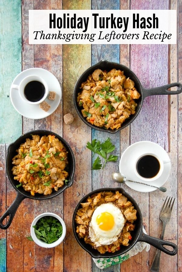 Holiday Turkey Hash recipe (Thanksgiving leftovers) title
