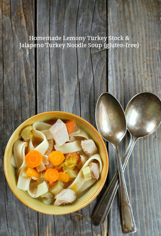 Homemade Lemony Turkey Stock and Jalapeno Turkey Noodle Soup | BoulderLocavore.com