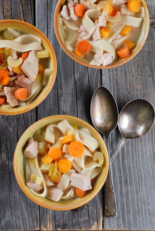 Jalapeno Turkey Noodle Soup #glutenfree - BoulderLocavore.com
