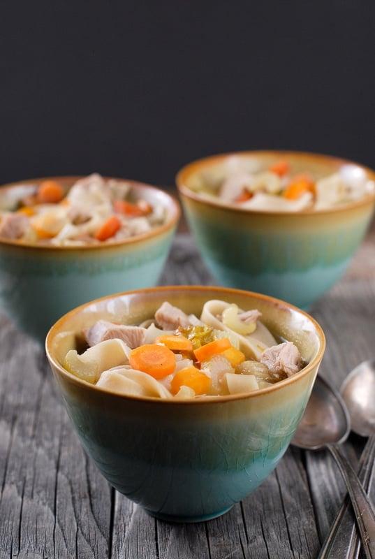 Jalapeno Turkey Noodle Soup side - BoulderLocavore.com #glutenfree