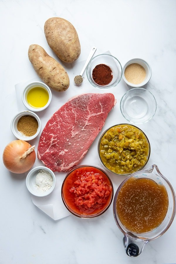 Mexican steak soup ingredients