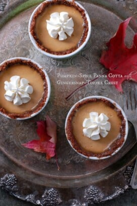 Pumpkin-Spice Panna Cotta with Gingersnap-Toffee crust title image