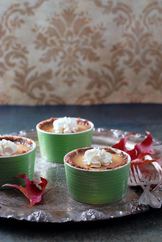 Pumpkin-Spice Panna Cotta with Gingersnap-Toffee crust - BoulderLocavore.com