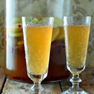 Sparkling Apple-Pear Mock Sangria glasses