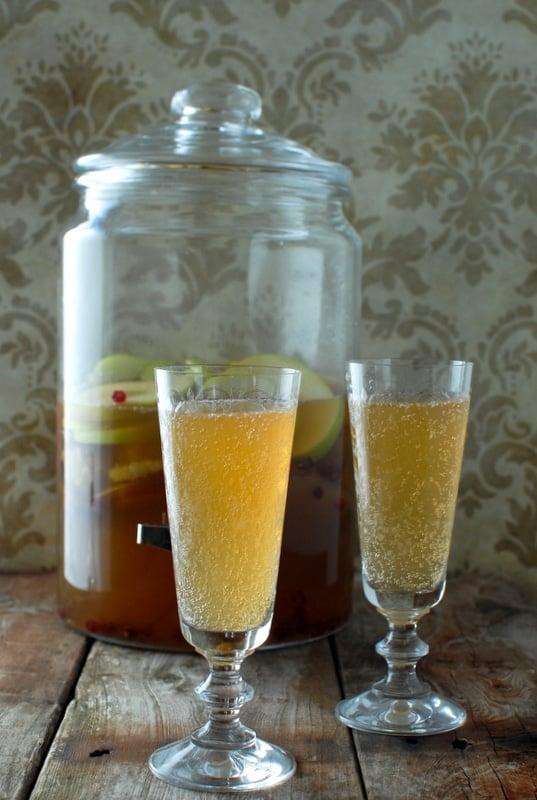 Sparkling Apple-Pear Mock Sangria - BoulderLocavore.com #noalcohol