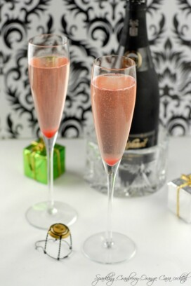 Sparkling Cranberry-Orange Cava Cocktail
